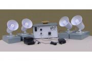 Sonorisation départ grand stade - 1 console, 1 micro et 8 hauts parleurs