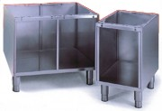 Soubassement placard ouvert cuisine professionnelle - Dimensions (L x P x H) cm : 70 x 57.5 x 60