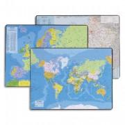 Sous mains carte du PLANISPHERE, dimensions 40x63,5cm - Esselte
