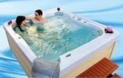 Spa transportable 4 places - Plaisir et Simplicité : 25 jets eau + 10 jets air - Dimensions 210x185x85cm