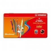STABILO COLOR Boite métal 12 crayons de couleur - Stabilo