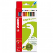 STABILO GREENColors Etui de 12 crayons de couleur – Bois certifié FSC et finition vernis mat - Stabilo