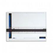 STAEDTLER Planche à dessin en plastique anti-choc avec règle ergonomique FIXMATIC format A3 - STAEDTLER