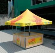 Stand buvette modulable - Taille de 3.24 m² - Léger - De forme carrée