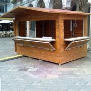 Stand d'exposition chalet - Structure acier galvanisé  - Toit Bois ou PVC