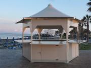 Stand événementiel pliant - Structure acier galvanisé - Toile en polyester