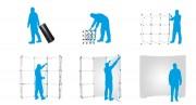 Stand parapluie courbé - Dimensions : l 2100 x H 2300 mm