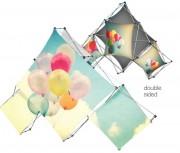 Stand parapluie triangulaire - Dimension (Lxlxh) : 3215 x 2040 x 350 mm