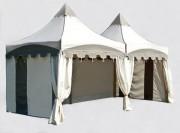 Stands de réception - Dimensions : 2 m x 3 m – hauteur maximale : 3.25 m - stand pliant en PVC – plusieurs habillages disponibles
