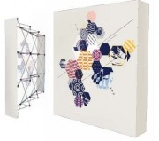 Stands parapluie tissu - Stand droit tissu impression numérique