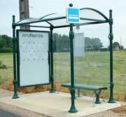 Station bus pour voyageur - 2 longueurs au choix : 2,5 ou 5 mètres