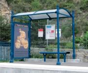 Station bus urbaine - 2 longueurs au choix : 2,5 ou 5 mètres