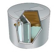 Station d'épuration eaux usées à 2 cuves - Assainissement compacte jusqu'à 12 EH