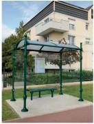 Station de bus ronds modèle Adour - Longueur (mm) : 2500 - 5000 - modèle Adour