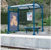 Station de bus ronds - modèle Neste - Longueur (mm) : 2500 - 5000 - modèle neste