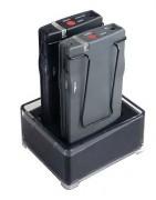 Station de charge 2 compartiments - Chargeur 2 x récepteur FM