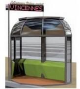 Station de Covoiturage urbain - Station à panneaux solaires photovoltaïques