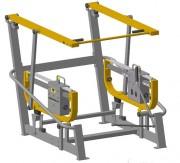 Station de fitness squat en extérieur acier - Machine pour exercices de squat en extérieur
