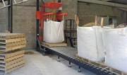 Station de remplissage big bag réglables en hauteur - Sortie goulotte: 500 x 500 mm