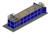 Station en conteneur pour traitement des eaux usées - Unité de traitement en conteneur