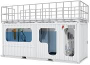 Station épuration en conteneur - Puissance : 18,7 kW/jour - Vente et location