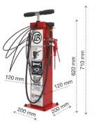 Station de gonflage vélo - Pompe avec adaptateur pour tout type de valve