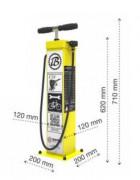 Borne de gonflage vélo - Pompe avec adaptateur pour tout type de valve