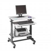 Station informatique compacte réglable en hauteur - Charge maximum : 50 kg
