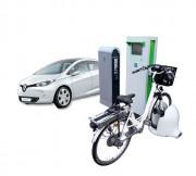 Station vélo et scooter électrique - Verrouillage et charge automatiques