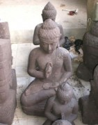 Statue bouddha traditionnelle - Constituée en pierre