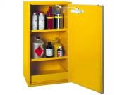 Stockage : armoire pour produits dangereux - 1 porte - Armoire sécurisée - Dim. (H x L x P) : 110 x 60 x 52 cm - Poids 85 kg - Volume de stockage : 70L - Rétention totale : 40L