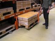 Stockage coulissant pour palette au sol - Dimensions palettes (mm) : De 800 x 1200 à 1200 x 1200