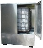 Stockage cubitainer acier - Capacité de rétention : 1000 Litres