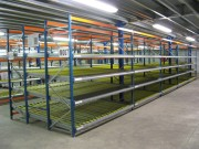 Stockage dynamique charge légère - Charge maxi : 450 kg par m2