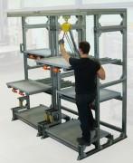 Stockage ergonomique des moules de thermoplasturgie - Capacité de charge : 800 kg