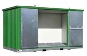 Stockage extérieur en rétention - Capacité de rétention des bacs : 914 litres