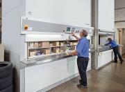 Stockeur vertical rotatif - Une forte capacité de stockage dans un espace réduit grâce au principe du rayonnage rotatif. Gain de temps, sécurité et ergonomie !