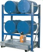 Stockage sur rayonnage pour fûts de 200 et 60 L - Ref.TC-W.Z.2701