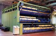Stockeur automatique pour caisses - Capacité de 3 à 100 tonnes (100 kg à 3 tonnes par plateau)