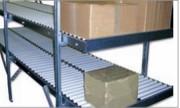 Stockeur dynamique à 2 niveaux - Stockeurs :  2 niveaux     -    Rouleaux  : PVC / ACIER