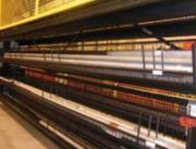 Stockeur vertical pour charges longues - Profilés aluminium, PVC, tubes, stores...