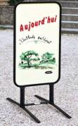 Stop trottoir ardoise - Modifiable chaque jour avec un marqueur effacable