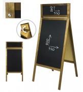 Stop trottoir ardoise restaurant - Dimensions (L x h) : 61 x 150 cm