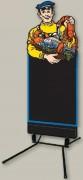 Stop trottoir poissonnier - Dimensions (cm) : 60 x 148