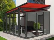 Store veranda - Rails de guidage décalés - Décoratif