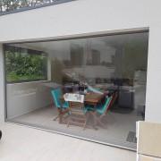 Store vertical ZIP en toile ou cristal transparent - Largeur Mini: 60 cm / Maxi: 600 cm