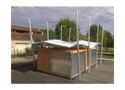 Structure abri métallo textile pour préau - Etude et conception sur mesure d'abris et préaux métallo-textiles