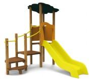 Structure avec toboggan Nansa - Norme EN 1176 / de 1 à 6 ans