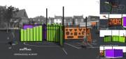 Structure d'éveil sportive - Dernière vue 3D couleur