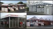 Structure d'installation aluminium - Variante de forme, de dimensions et de couleurs